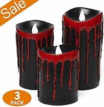 Halloween Flammenlose Kerzen, LED Kerze Teelichter