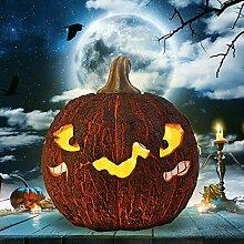 Halloween Harz Kürbis Laterne Geist Windlicht