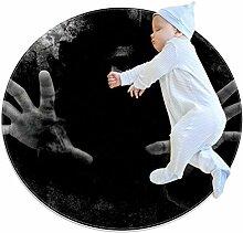 Halloween Horrorman-Teppich, rund, für