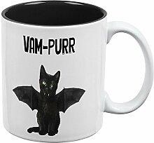 Halloween Katze Vampir Vam-schnurren aller Kaffee-Haferl schwarz-weißen eine Standardgröße