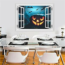 Halloween Kürbis Laterne Fliegende Fledermaus