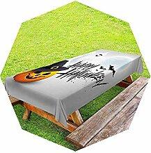 Halloween-Outdoor-Tischdecke mit grauem