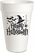 Halloween-Partybecher, 473 ml, Styroporbecher, 10