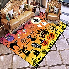 Halloween rutschfester Teppich, Schädel Kürbis