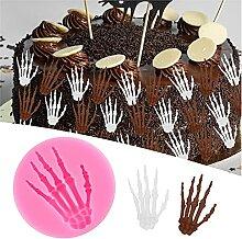 Halloween Silikonformen Spinnenschläger Cupcake