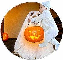 Halloween-Teppich, Motiv: Geisterhund Kürbis,