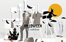 Halloween Wall Sticker Glas Fenster kann Aufkleber entfernen einer Vielzahl von Stilen, Halloween Glas Aufkleber 007