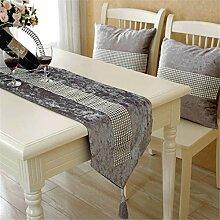 Halloween/Weihnachten/Dekoration europäische Mode cashmere Geschenk Tabelle serviette Tuch bett Flagge Flagge Dekoration, 30 * 160 cm, grau