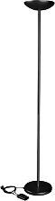Halogen-Deckenfluter Maul schwarz dimmbar
