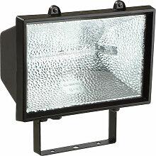 Halogen-Strahler 1500 W mit Lichtm.,schwarz,IP54 -