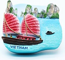 Halong Bay Vietnam Junk Gro?segler 3D Resin TOY Fridge Magnet Schiff frei