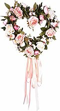 halonzhor Künstliche Rose Herzförmige Kranz