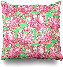 Haloxa Kissenbezug Pflanze Anemone Vintage Muster