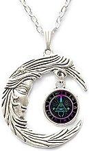 Halskette aus Glas mit Steampunk-Motiv,
