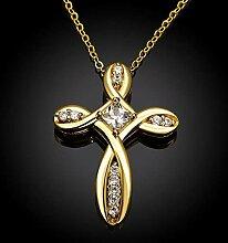 Halskette Elegante Kreuz Modehalskette Aus K Gold