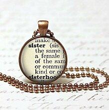Halskette für Schwester, Geschenk für