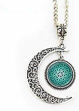 Halskette mit Anhänger Blume des Lebens,