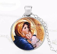 Halskette mit Anhänger Jungfrau Maria mit Kind