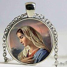 Halskette mit Anhänger Jungfrau Maria,