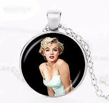 Halskette mit Anhänger Marilyn Monroe