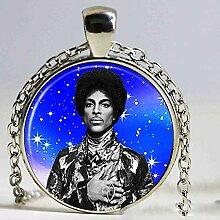 Halskette mit Anhänger, Motiv Prinz RIP-Symbol,