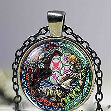 Halskette mit Anhänger, Steampunk-Motiv, aus