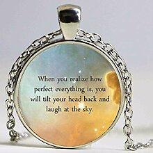 Halskette mit Buddha-Zitat, inspirierender