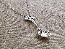 Halskette mit Löffel, antikes Silber Halskette