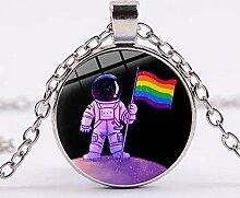 Halskette mit Regenbogen-Flagge,