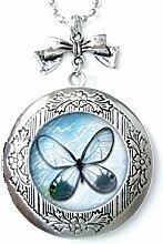 Halskette mit Schmetterlingsmedaillon,