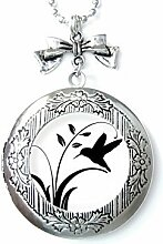 Halskette mit schwarzem Vogel-Motiv,