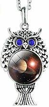 Halskette mit Sonnensystem, Schmuck,