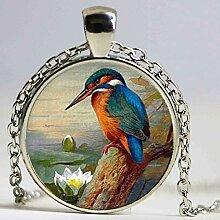 Halskette mit Tiermotiv, Vintage-Stil,