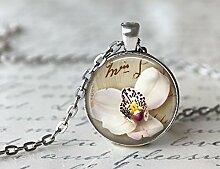 Halskette Traumblumen Orchidee handgefertigt