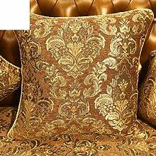 Halt europäisch anmutende Sofa Kissenbezug/PP Baumwoll-Kissen/Sofa-Bett Umarmung Kissenbezug-A 48x48cm(19x19inch)VersionA