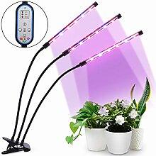 HALUM Pflanzenlampe Grow LED mit 36W Zeitfunktion