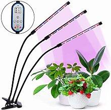 HALUM Pflanzenlampe Grow LED mit Zeitfunktion