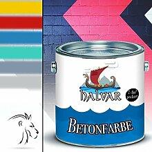 Halvar Betonfarbe skandinavische Fassadenfarbe für Beton, Putz, Stein, Mauerwerk und andere mineralische UntergründeZementfarbeBoden-Beschichtung - hoch-elastische Kunststoffbeschichtung