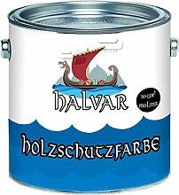 Halvar PU Holzschutzfarbe GLÄNZEND Brillantblau