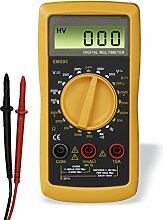 Hama Digital Multimeter (Spannungsmesser, Stromprüfer, Widerstand, Strommessgerät) schwarz/gelb