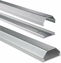 Hama Stabiler Kabelkanal aus Aluminium silber (1,1
