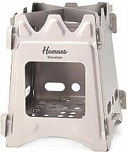 Hamans Titan-Holzofen, Campingkocher, faltbar,