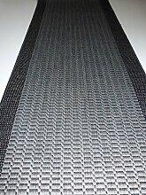 Hamat Läufer rutschfester Flachgewebe Grau Meterware B/ 100 x L/ 280 cm