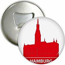 Hamburg Germany rot Landmark rund Flaschenöffner
