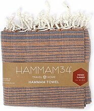 Hammam34Reine Baumwolle und Bambus Hand