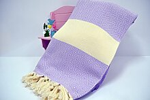 Hammamtuch Pestemal Turkish Towel Peshtemal for Hamam Bathrobe Spa Pool Massage Sauna Beach Yacht Gym Fitness Kitchen Yoga Baby Towel Picnic Blanket 100% Cotton DIAMOND (Lilac)