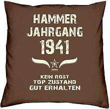 Hammer Jahrgang 1941 Sprüche Kissen 40x40 für