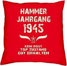 Hammer Jahrgang 1945 Sprüche Kissen 40x40 für