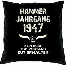 Hammer Jahrgang 1947 Sprüche Kissen 40x40 für