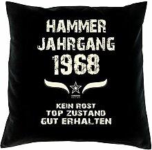 Hammer Jahrgang 1968 Sprüche Kissen 40x40 für